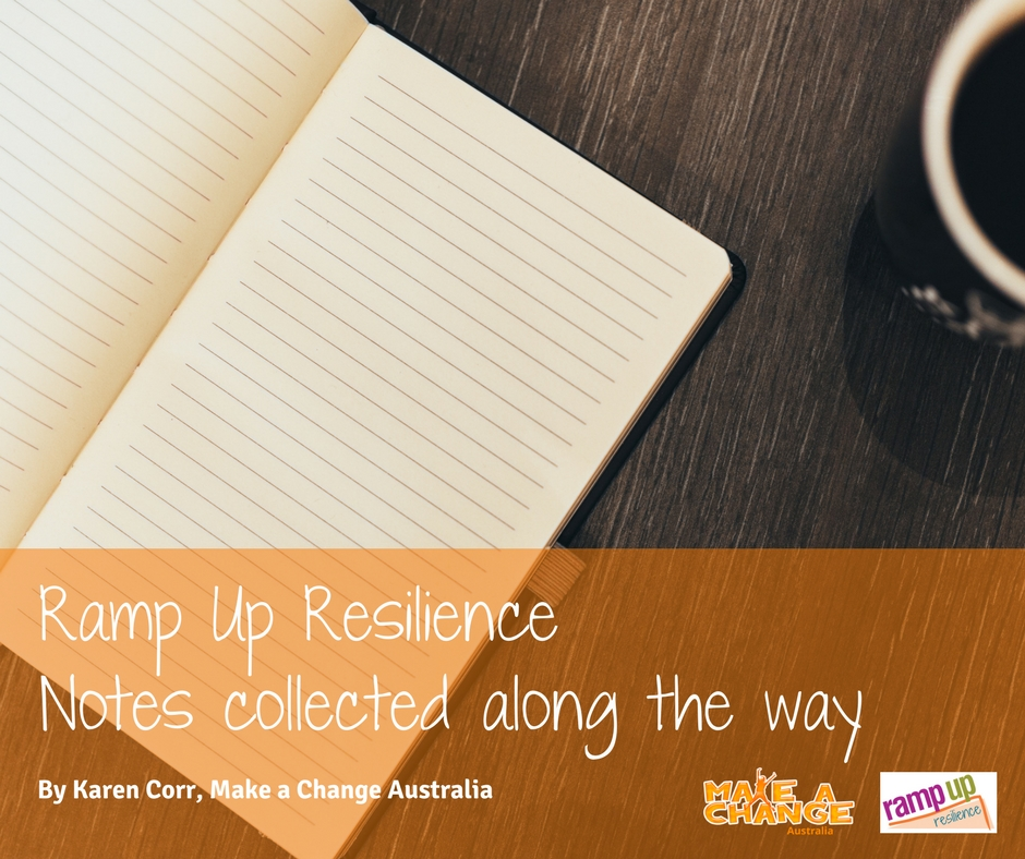 Our Notebook to Ramp Up Resilience